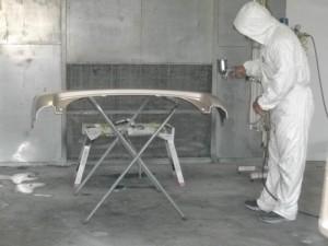 バンパー塗装防塵服