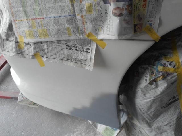 FRPバンパーサフ塗り